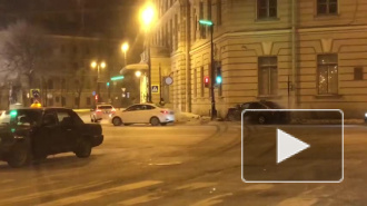 На Загородном после погони водитель с ноги ударил в нос инспектора полиции