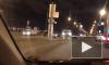На Арсенальной набережной водитель BMW без прав устроил ДТП