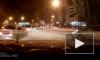 На улице Курчатова в Петербурге неосторожный водитель чуть не устроил ДТП