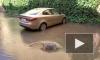 Видео: Мутная вода залила двор на набережной Фонтанки