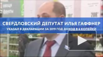 Свердловский депутат указал в декларации за 2019 год доход в 4 копейки