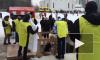 В Кудрово купальщикам выдавали крестики (видео)