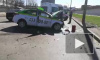 Появилось видео тройного ДТП с участием такси на проспекте Народного ополчения