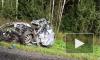 Появилось видео с Мурманского шоссе, где грузовик раздавил легковушку