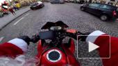 В Париже Санта-Клаус на мотоцикле устроил погоню за нарушительницей