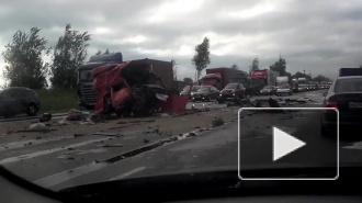 Огромная пробка скопилась на Московском шоссе, в ДТП погиб человек