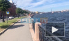 На набережной Макарова петербуржца засосало под воду