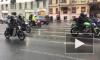 Петербургские байкеры открыли мотосезон под ливнем и мелким градом