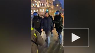В МВД извинились перед женщиной, которую силовик ударил в живот в Петербурге