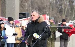 Блокадным хлебом угостили ветеранов из Беларуси