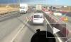 На севере Петербурга водители встали в десятикилометровую пробку