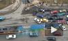 На въезде в Кудрово таксист подрезал иномарку: образовалась страшная пробка