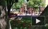 В выборгском саду Скульптур обновили детский городок