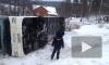 Первые фото: В Карелии перевернулся туристический автобус с 34 пассажирами