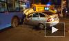 В Москве легковушка протаранила автобус: Пассажир авто погиб