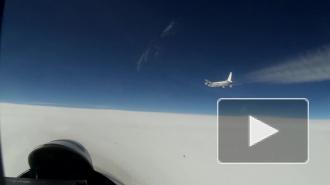 Опубликовано видео перехвата Су-27 иностранных самолетов-разведчиков