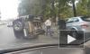 Перевернувшаяся иномарка собирает пробку на Каменноостровском