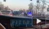 На Московском шоссе из-за утренней смертельной аварии затруден проезд