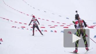 Антон Шипулин занял первое место в спринте на Кубке мира по биатлону