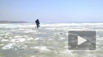 Спасатели выловили из Финского залива 26 рыбаков на грани смерти