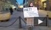 В центре Петербурга прошел одиночный пикет против поправок в Конституцию