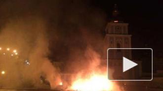 Последние новости Украины: в Киеве подожгли лагерь активистов Майдана