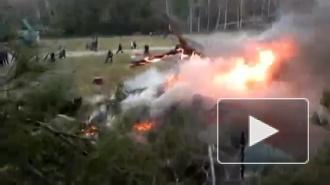 Названы две версии крушения вертолета в Москве