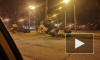 Момент ДТП с перевернувшимся каршерингом на севере Петербурга попал на видео
