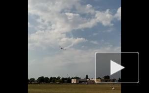 Очевидец снял падение самолета под Москвой