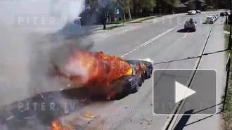 На Крестовском острове на съемках взорвали автомобиль