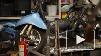 Под Петербургом скутер столкнулся с полицейской машиной