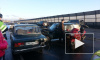 На КАД жестко столкнулись два автомобиля ВАЗ и мотоцикл: на место происшествия выезжали спасатели