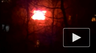 Во время пожара на Витебском проспекте женщина, спасаясь от огня, спрыгнула с балкона 4 этажа