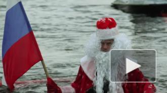 Дед Мороз не смог взлететь у Петропавловки