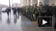 У Московского вокзала заметили призывников