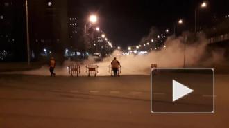 В Невском районе 70 зданий лишились тепла из-за прорыва магистрали