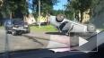 Внедорожник перевернул на крышу седан на Обводном