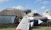 Опубликовано видео с места крушения самолета на частный дом в Чечне