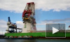 Момент обрушения крупнейшего портового крана попал на видео