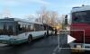 На улице Седова загорелся автобус, пять человек эвакуировали
