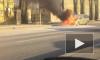На Свердловской набережной очевидцы заметили горящий автомобиль