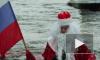 Дед Мороз не смог пролететь на флайборде у Петропавловской крепости