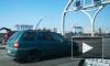 Volkswagen влетел в зад Volvo на съезде с ЗСД на Богатырский проспект