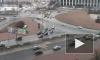Столкнулись перед пешеходом. ДТП на площади Победы