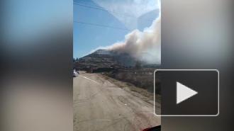 В Волосовском районе горит полигон с твердыми бытовыми отходами