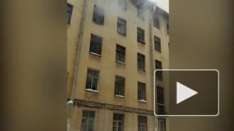 На Рижском проспекте пожарные тушили кухню