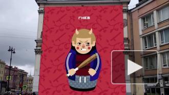 """На фасаде домов в Петербурге """"изобразили"""" гнев, похоть и чревоугодие"""