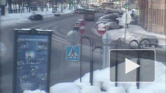 Аварийный занос на улице Добролюбова